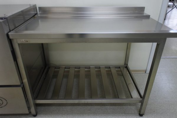 Стол выходной для посудомойки, левый 1200х750х870