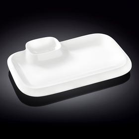 Блюдо прямоугольное l=360*215 мм. с соусником Wilmax